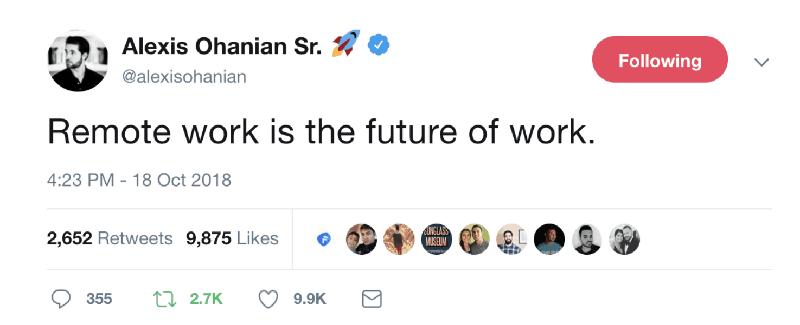 Alexis Ohanian y Trabajo Remoto