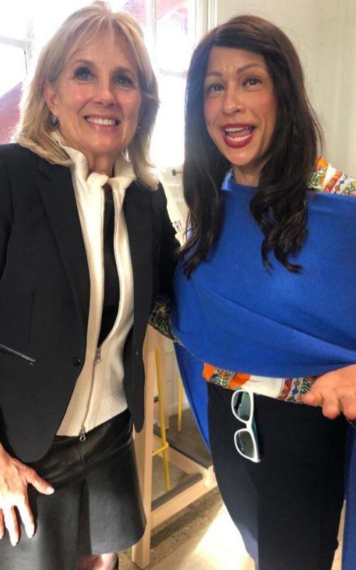 Jill Biden y Rebecca Padnos