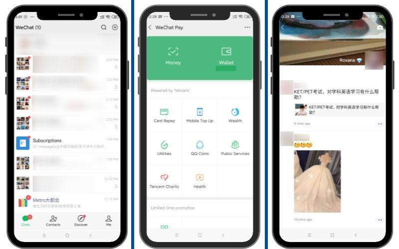 Aplicación creada por Tencent, es comparada con Whatsapp, por ser una herramienta perfecta para la mensajería instantánea.