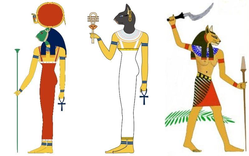 Diosas felinas, civilizaciones antiguas