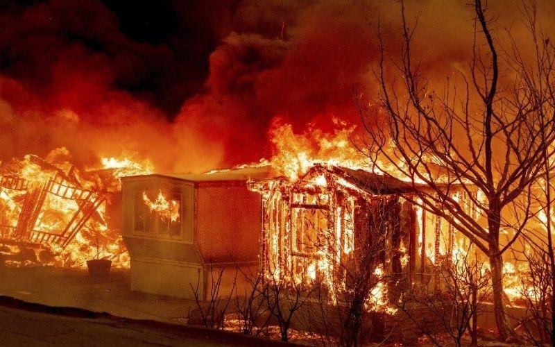 Casa quemada por incendio