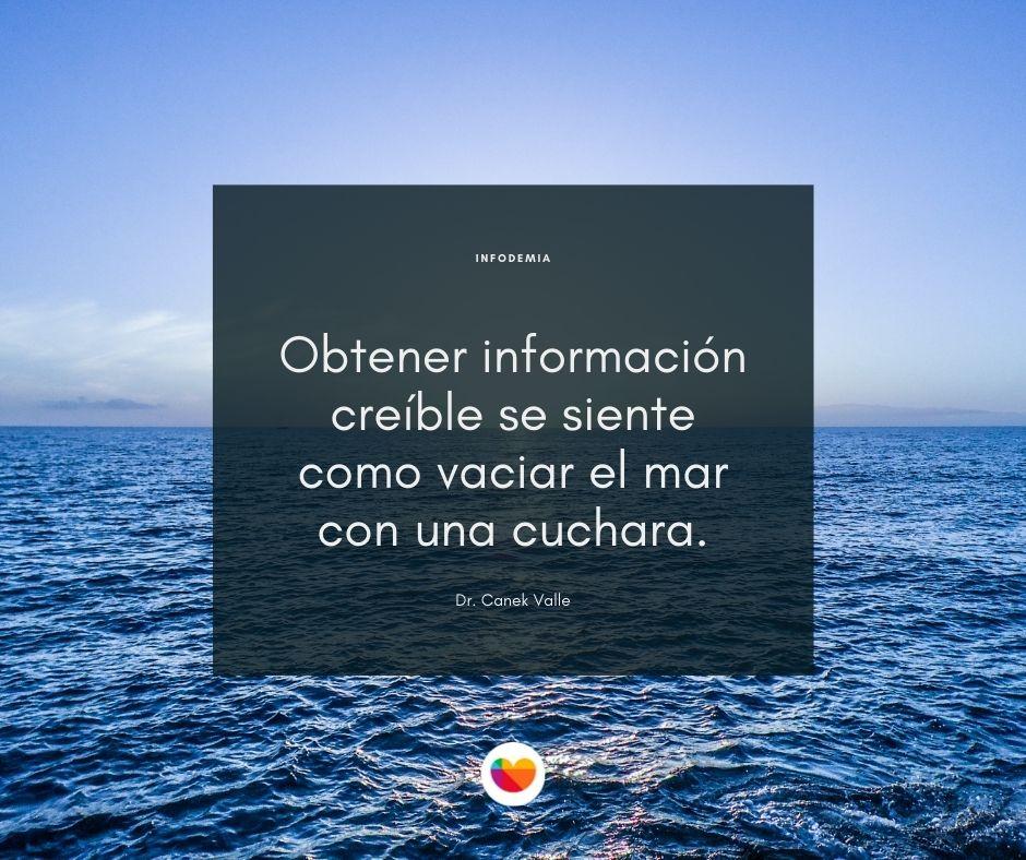 Infodemia COVID-19. El exceso de información, provoca estrés y ansiedad.