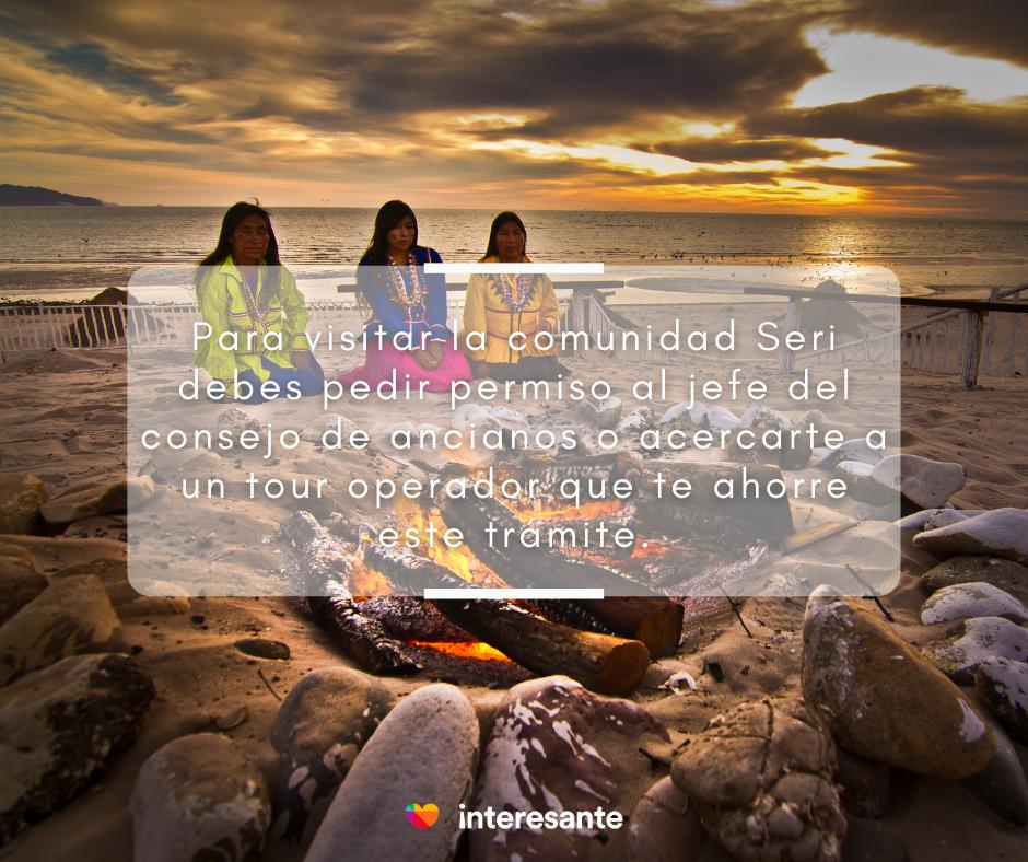 Comunidad Seri en la Isla Tiburón. Desierto de Sonora.