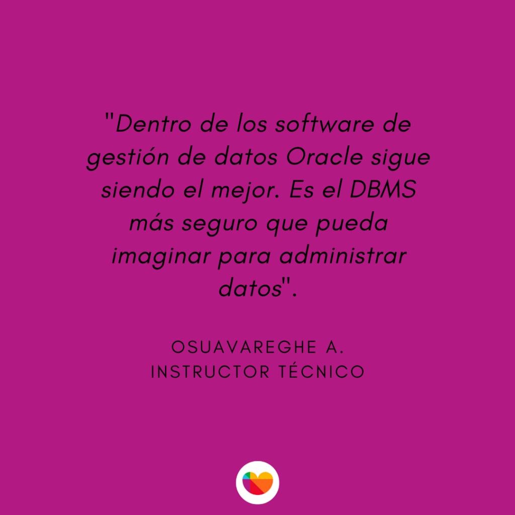 Oracle es una de las mejores herramientas business intelligence