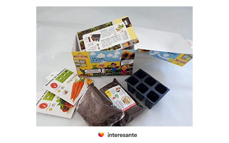 Un kit para huerto en casa, excelente regalo para sustentar sus ideales,