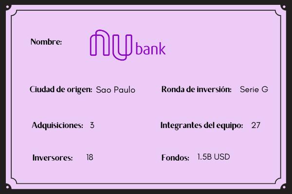 NU bank  startup CEO mujer
