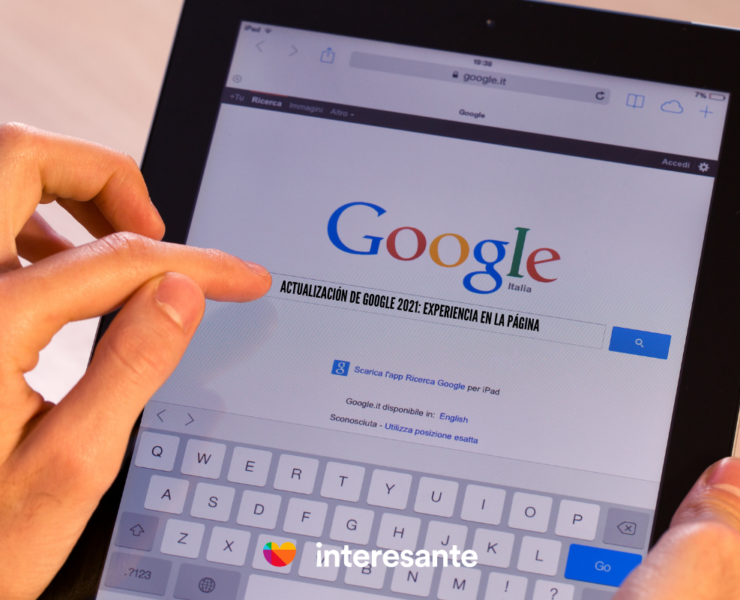 Google experiencia en la página Portada