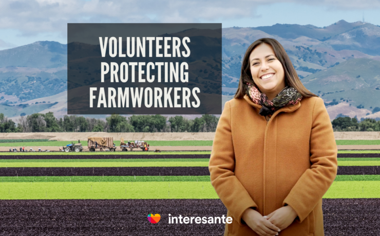Volunteers protecting farmworkers